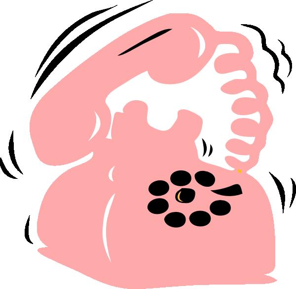 Pink clip art at. Phone clipart cute