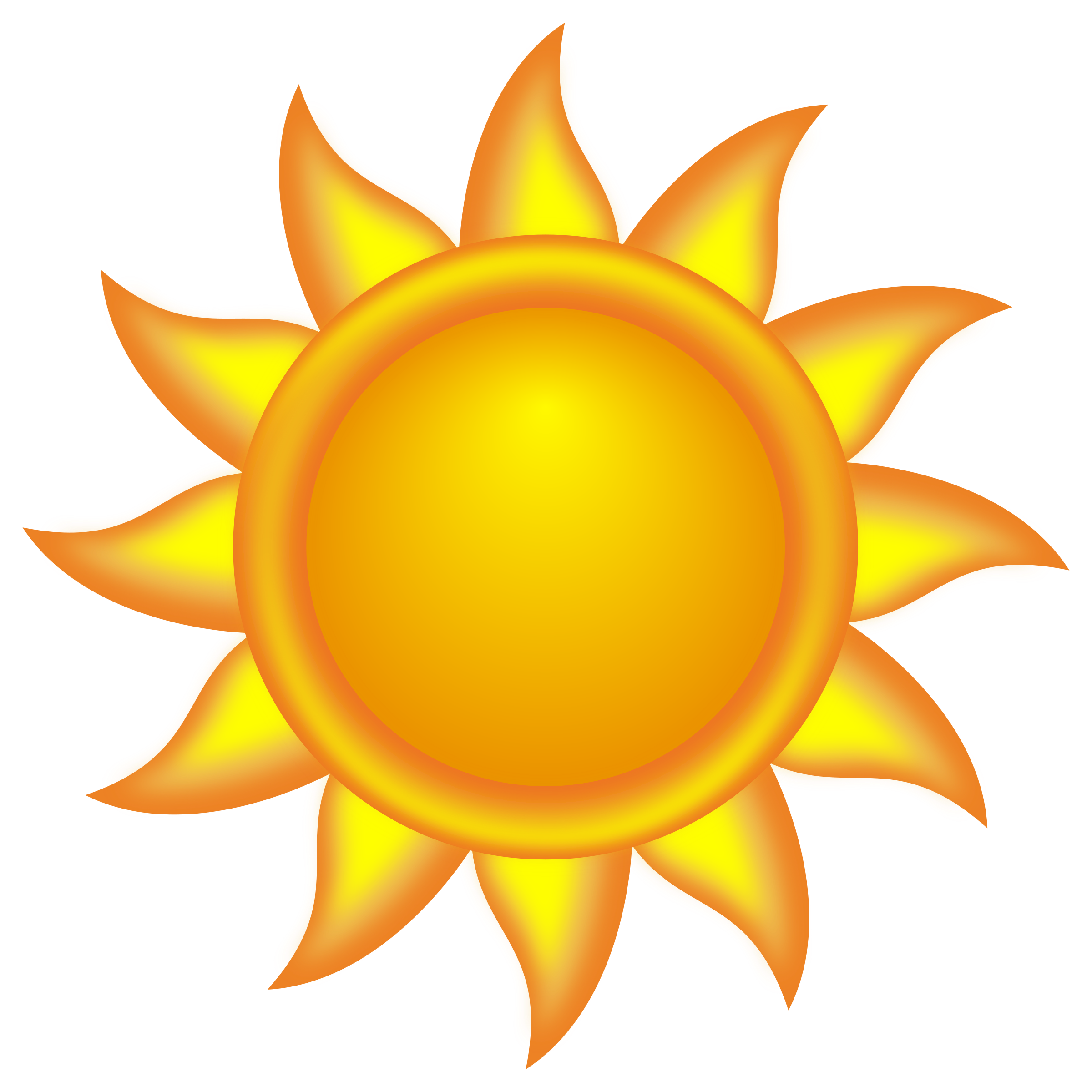 Safe clipart combination. Decorative sun by ivak