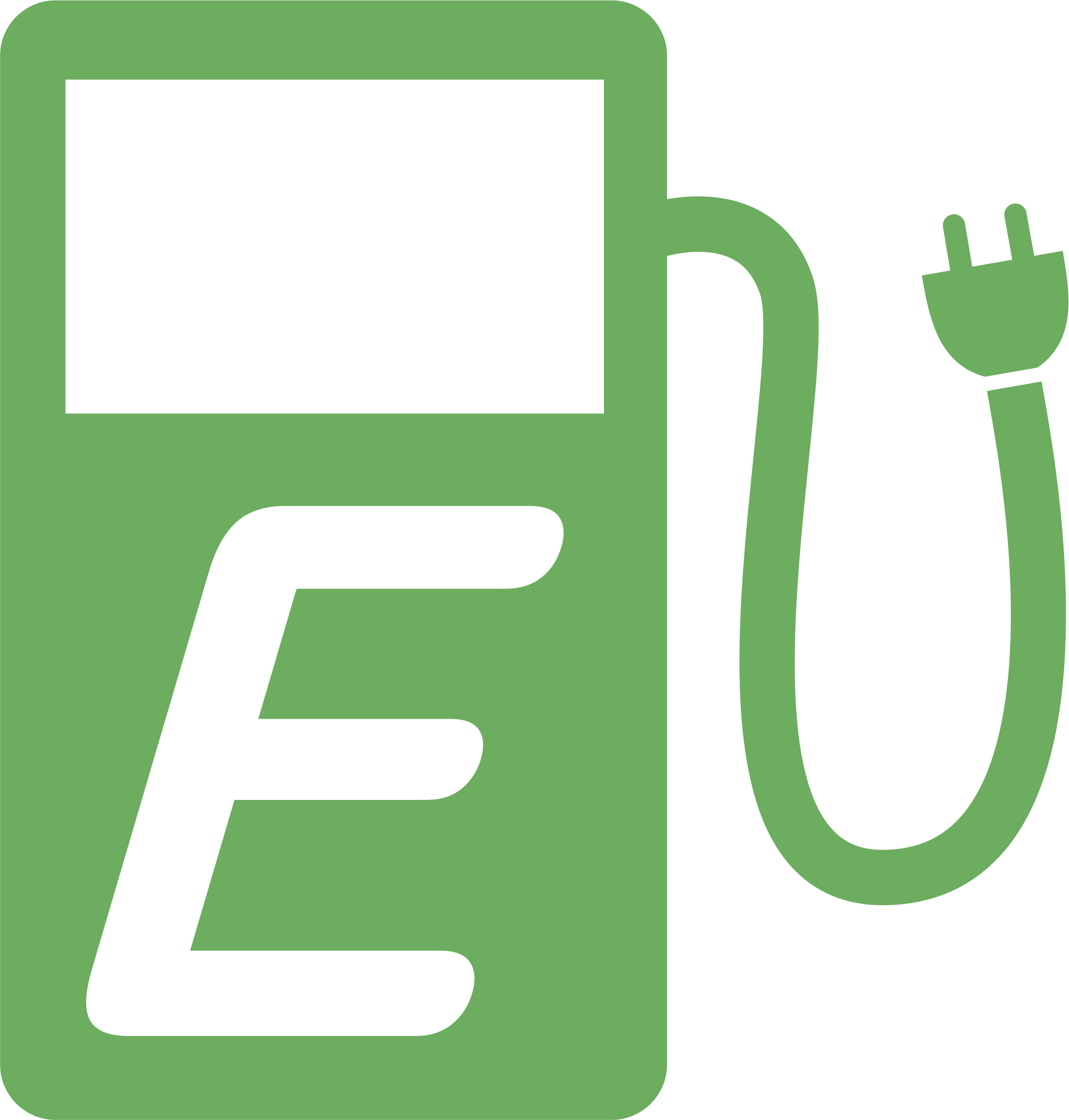 Charging station big image. E clipart green