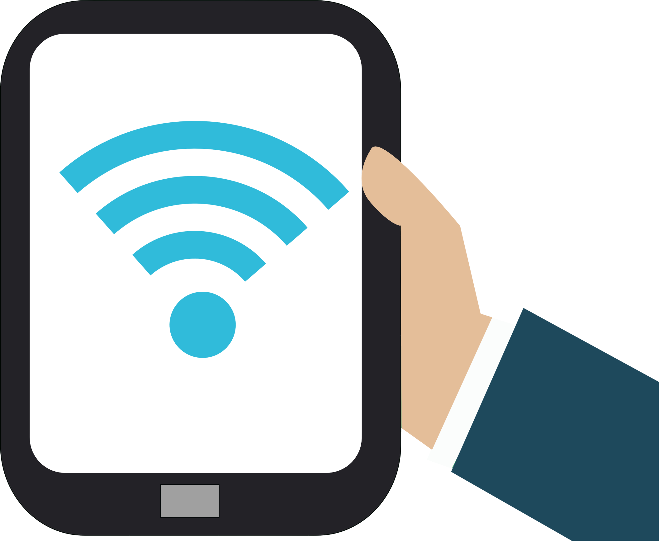 Electronics clipart internet symbol. Tablet wifi no background