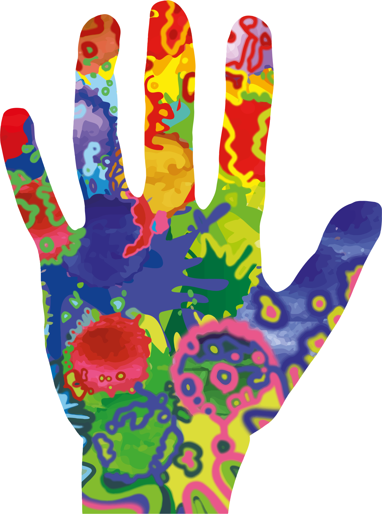 Hand big image png. Clipart phone colorful
