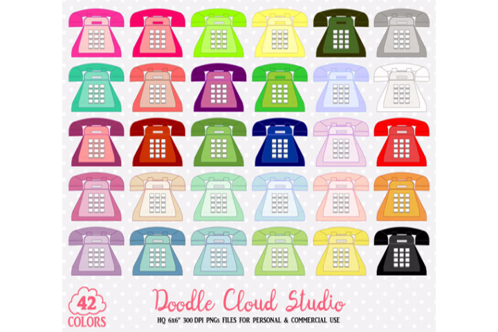 colorful telephone cute. Planner clipart background