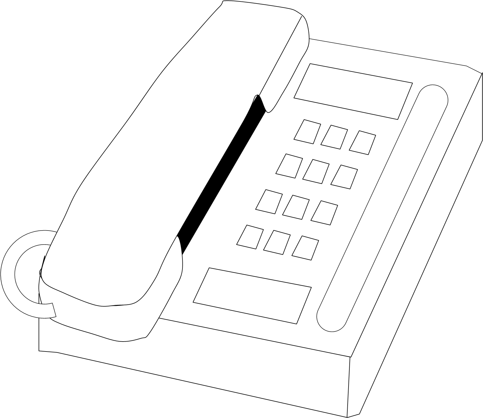 Bw free images at. Telephone clipart office phone