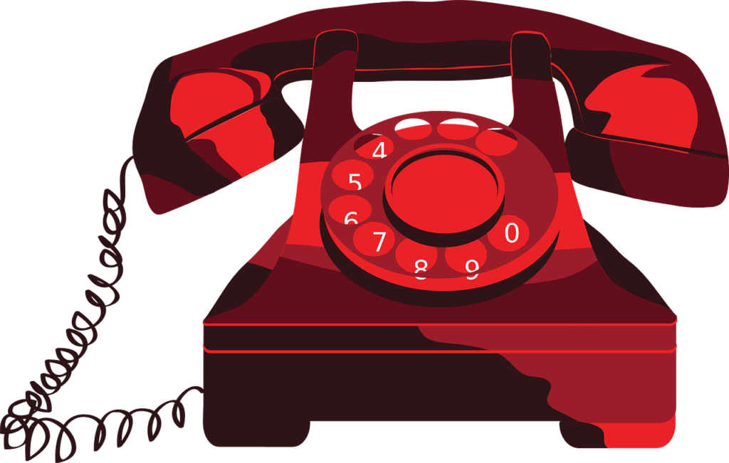 clipart phone corded phone