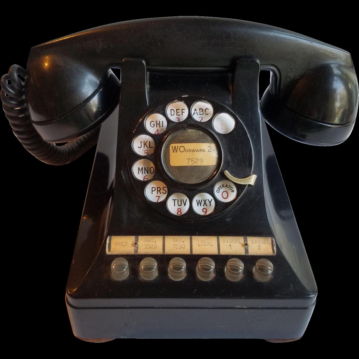 Clipart phone corded phone.  s black multi