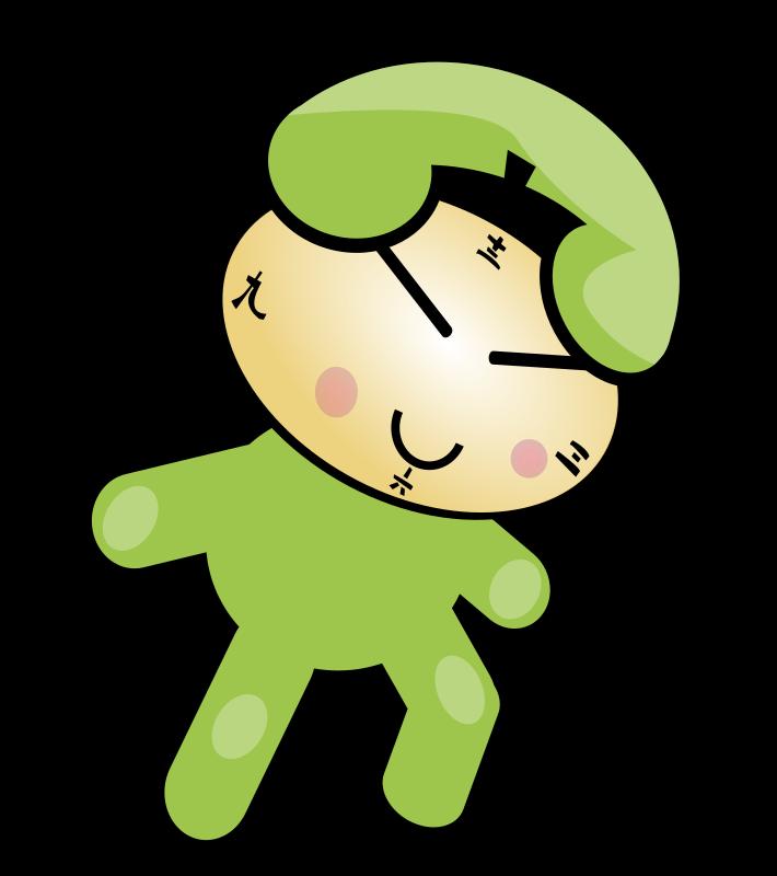 Clock character medium image. Phone clipart cute