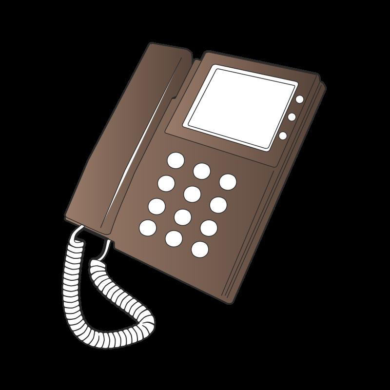 Telephone clipart illustration. Desk phone medium image