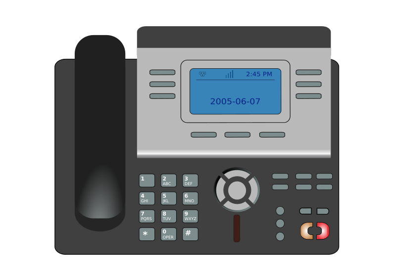 Telephone clipart ip phone