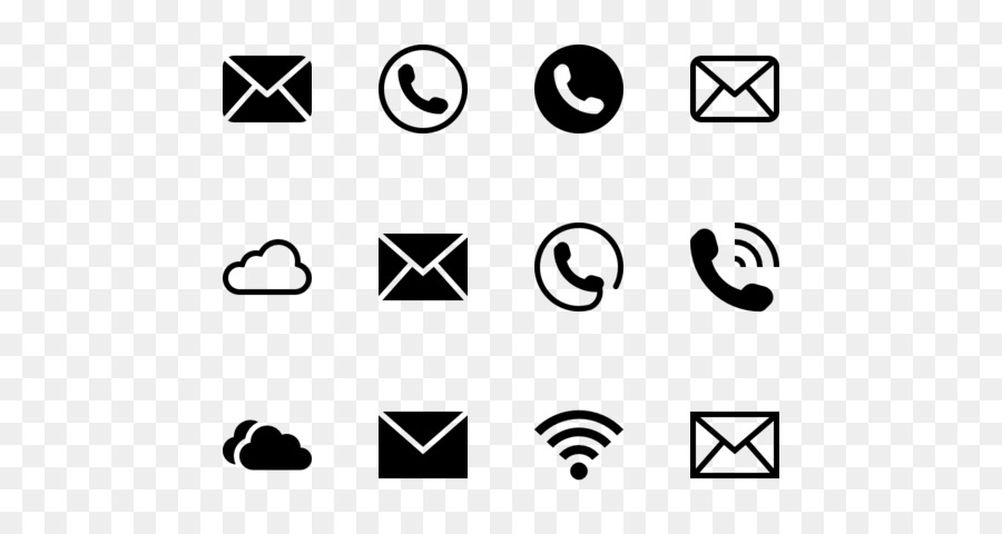 Icon text white transparent. Email clipart phone email