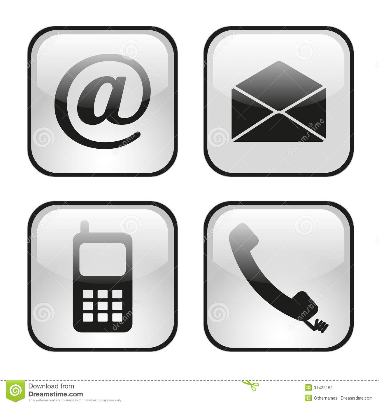 icons images contact. Email clipart phone email