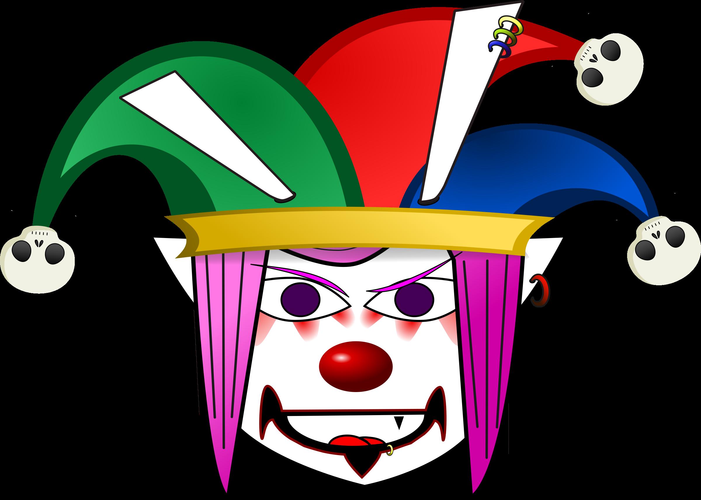 Clown big image png. Clipart phone evil