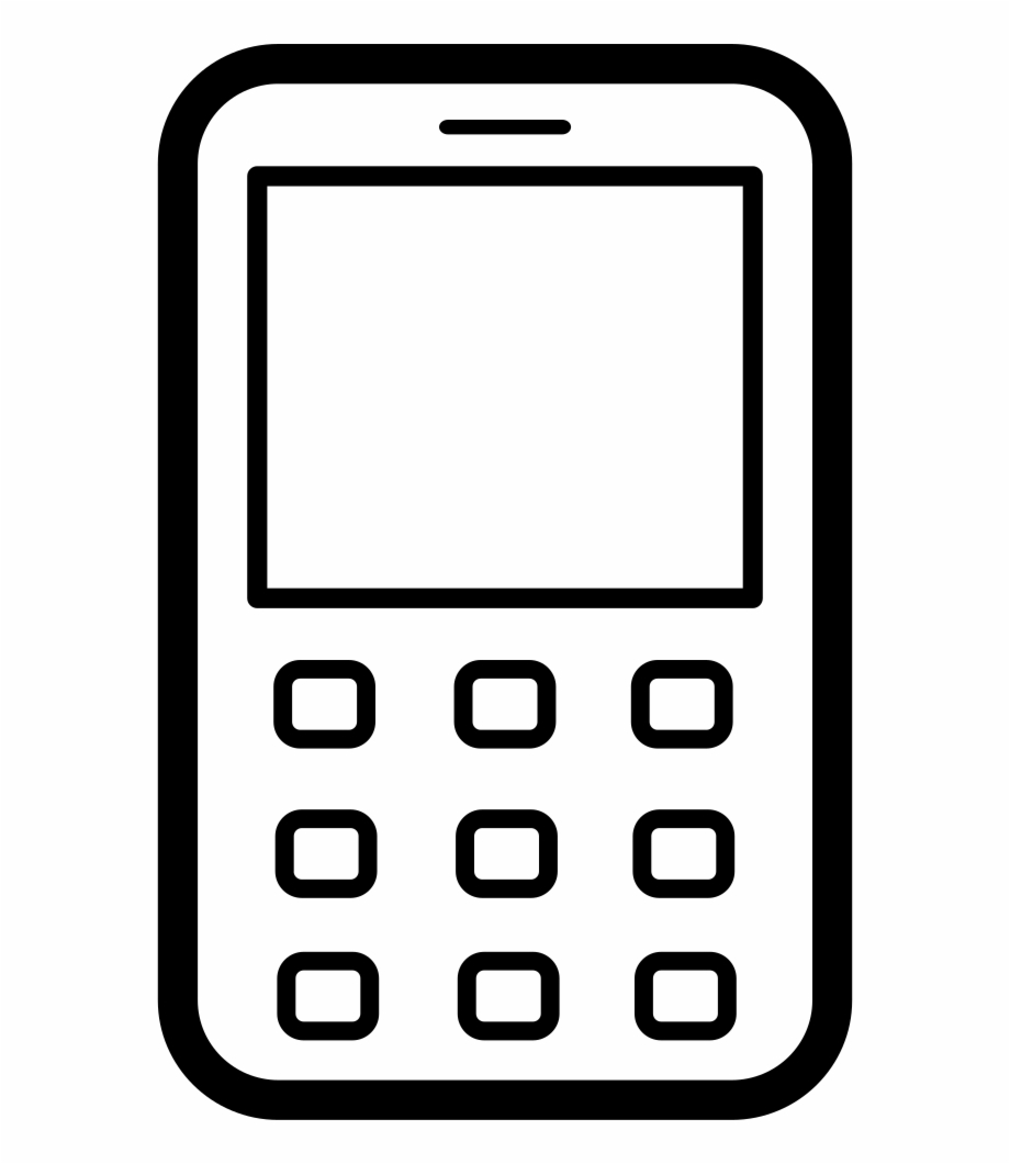 Clipart phone feature phone. Old mobile comments free