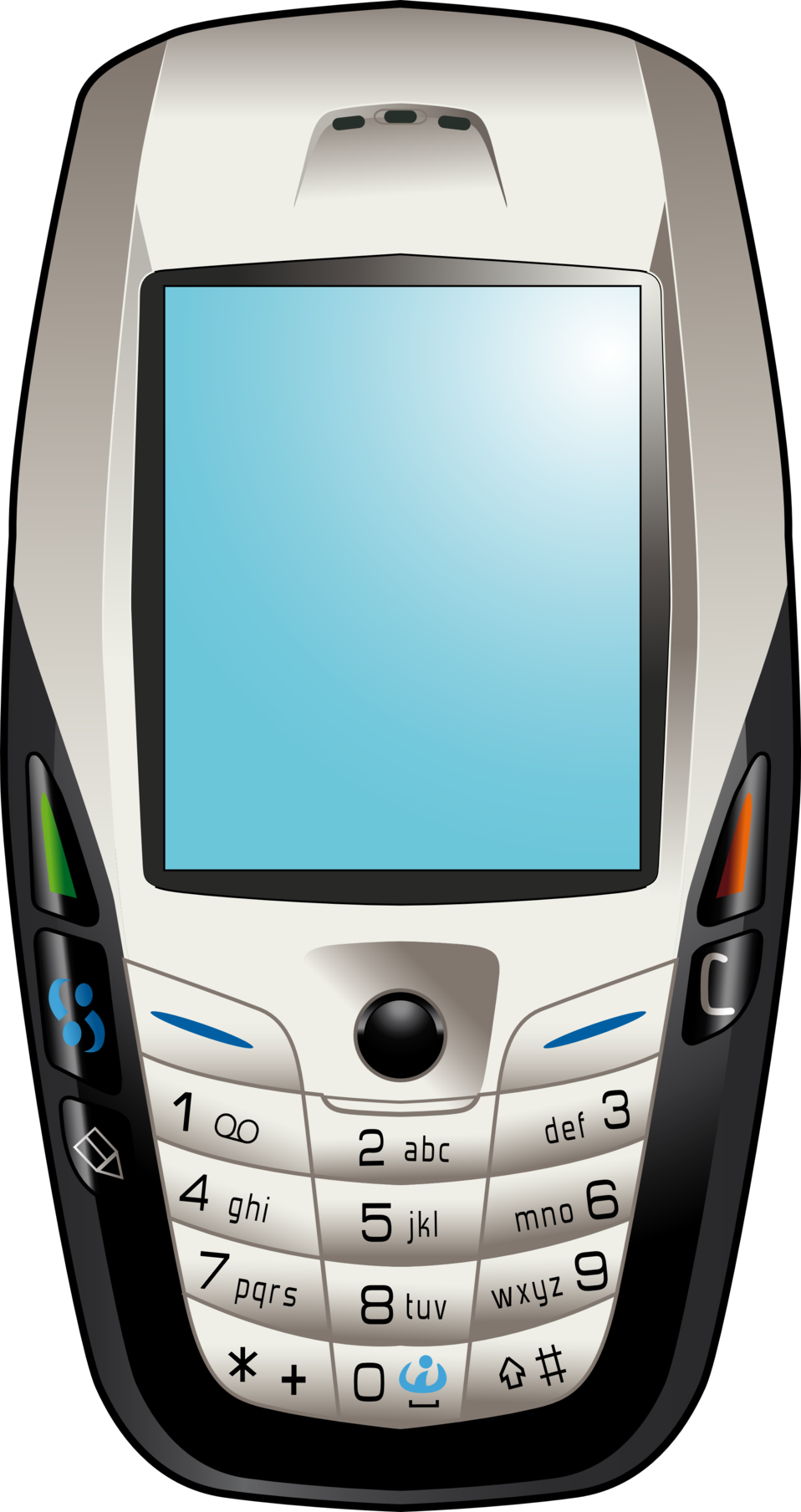 Clipart phone feature phone. Public domain clip art