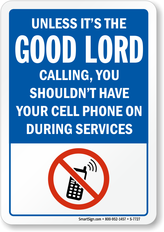 Phone clipart cell. Humorous turn off signs