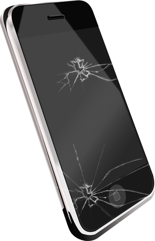 Iphone s vibration telephone. Electronics clipart broken electronics