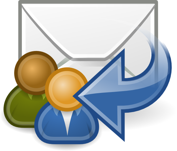 Email clipart website. Mail reply all clip