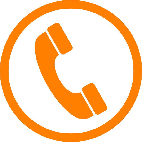 Clip art at clker. Telephone clipart phone orange