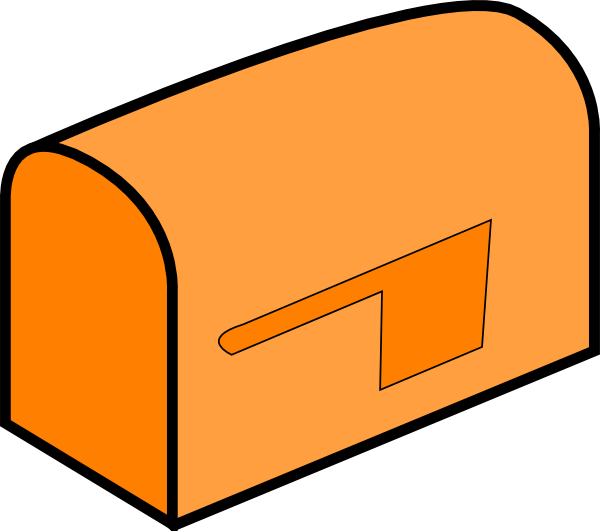 Facebook clipart inbox. Orange mailbox clip art