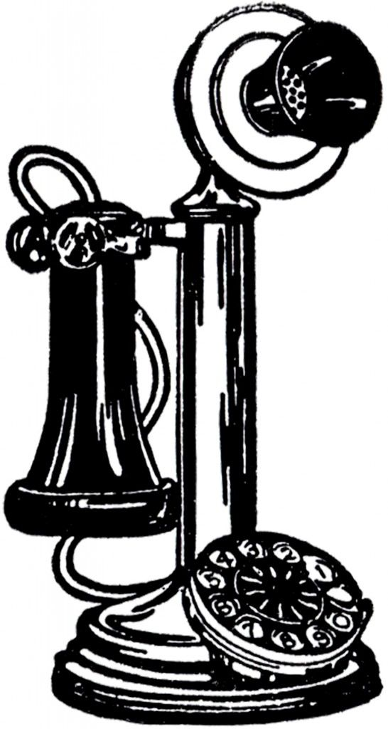 vintage images clip. Telephone clipart old fashioned telephone