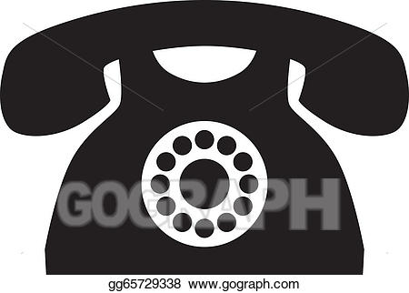 Eps vector phone stock. Telephone clipart old fashion