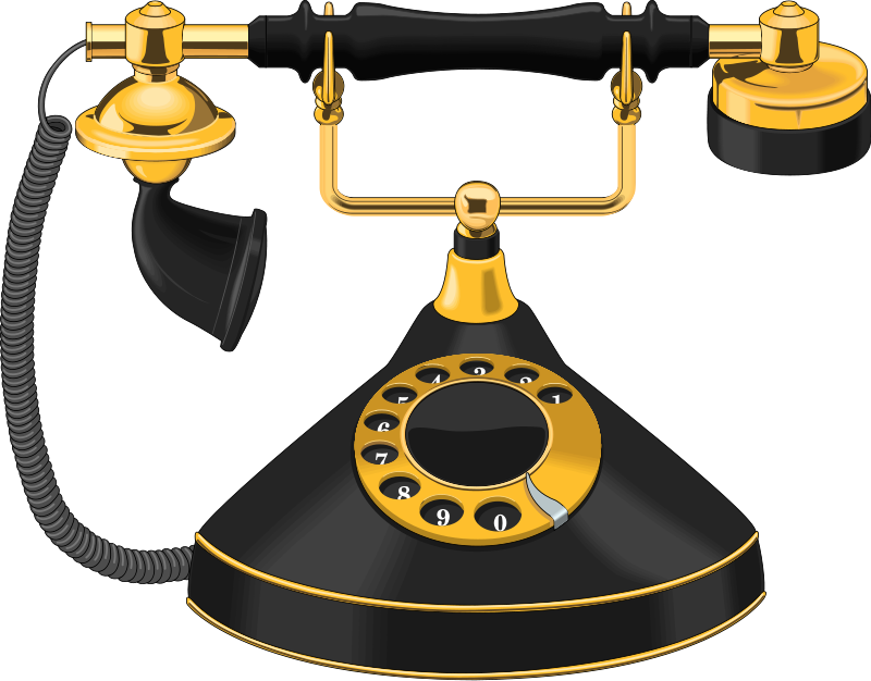 collection of high. Phone clipart old style