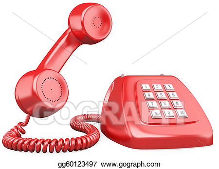 Stock illustration d red. Clipart telephone old fashioned telephone