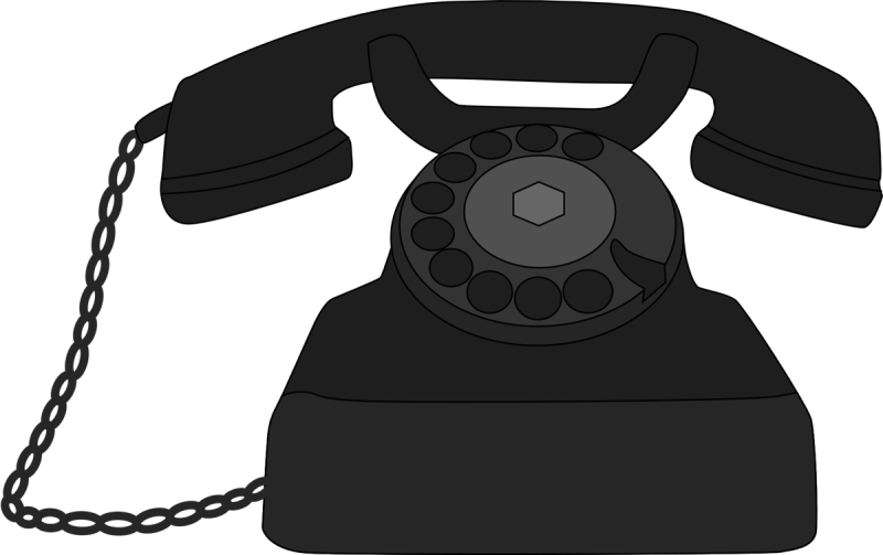 Ourclipart pin . Phone clipart old fashion
