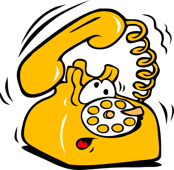 Telephone clipart line drawing. Ringing clip art at