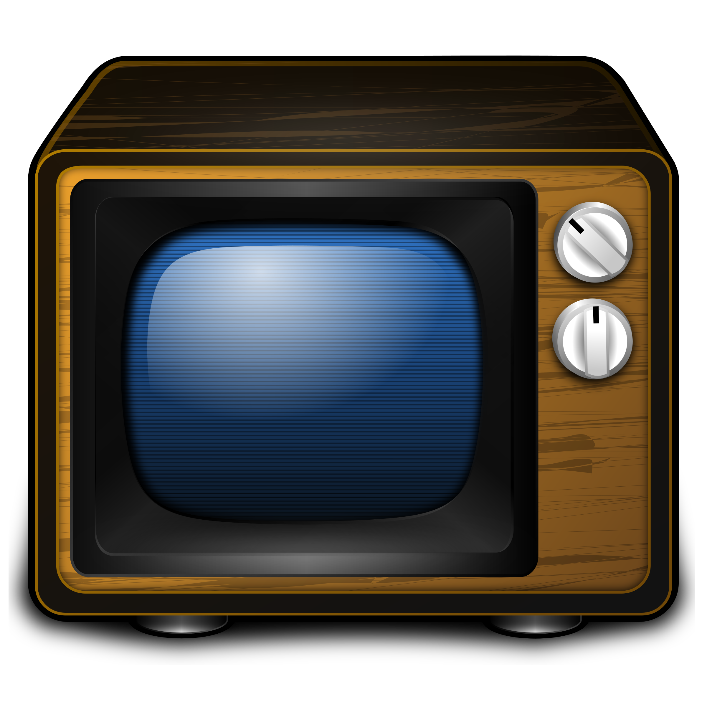 Television clipart old school. Tv big image png