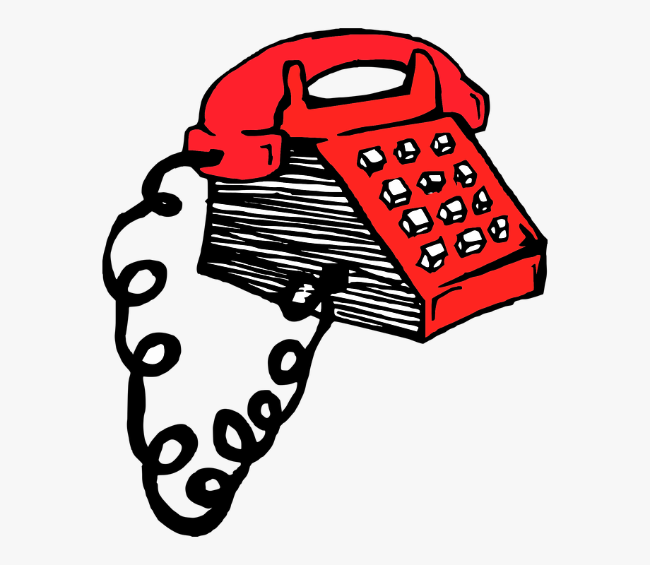 Telephone clipart old time. Phone retro red fashioned