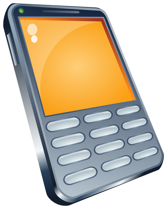 Phone clipart orange. Cell pink