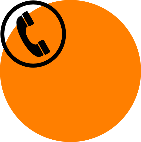 Telephone clipart phone orange. Clip art at clker