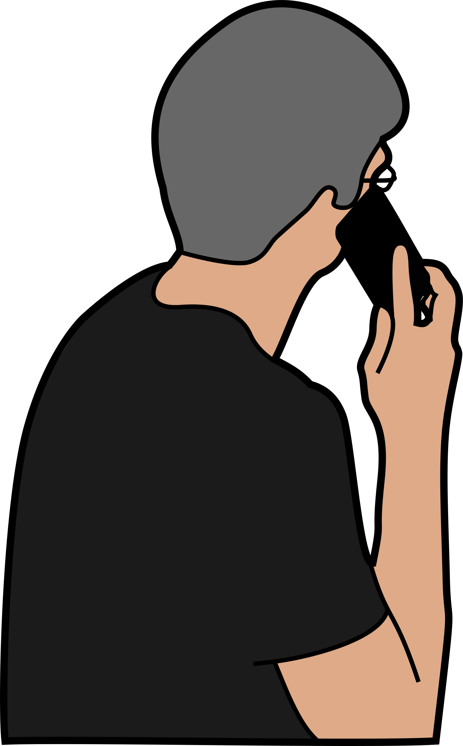 Person with icons png. Telephone clipart illustration