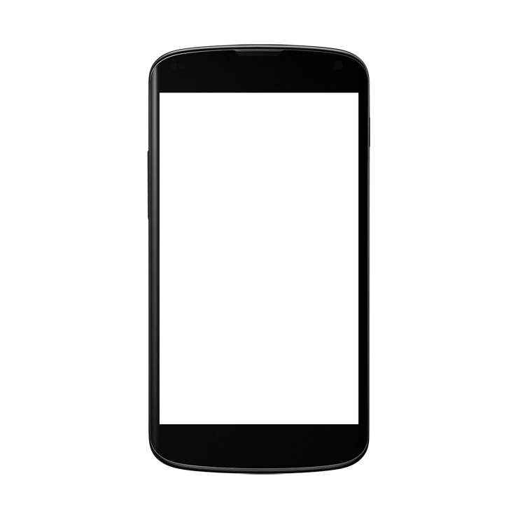 Android mockup transparent png. White clipart smartphone