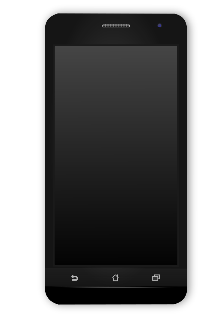 Clipart phone phone android. File black svg wikimedia
