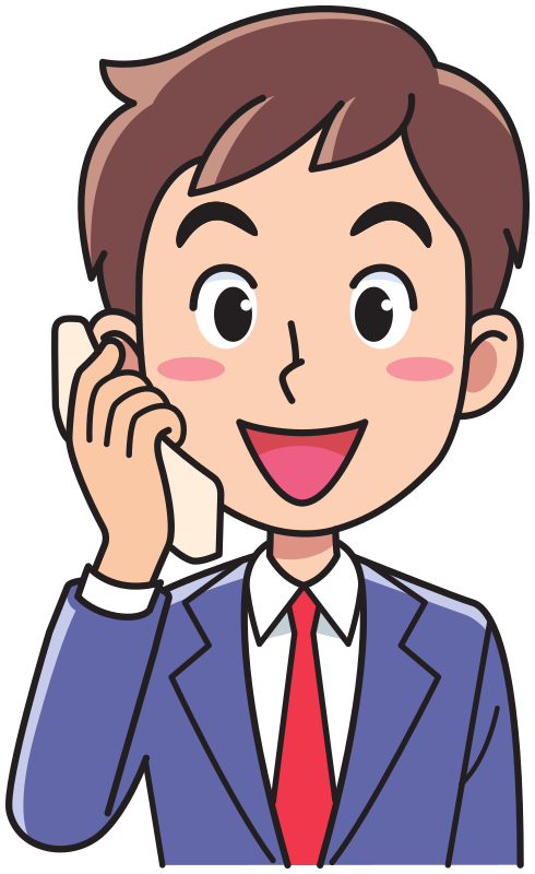 Business man using a. Telephone clipart phone call