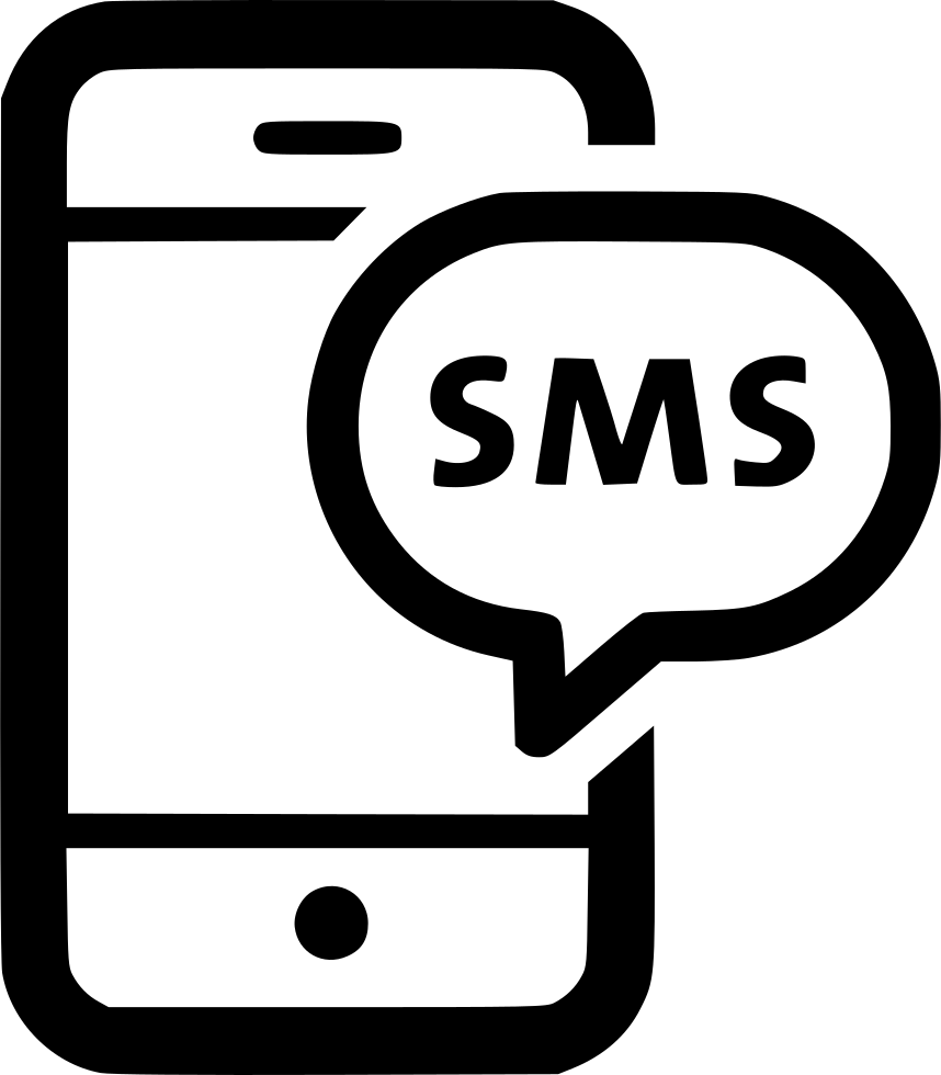 Important clipart phone message. Sms chat text bubble