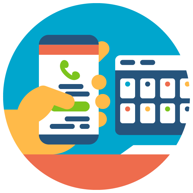 Dialer touch call dial. Conference clipart customer meeting