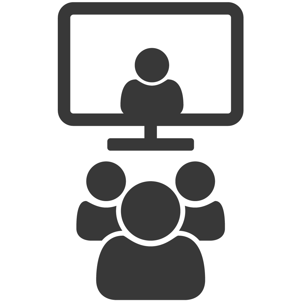 Conferencing audio visual services. Conference clipart icon