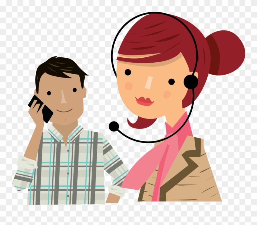 Phone receptionist on . Clipart telephone telephonic conversation