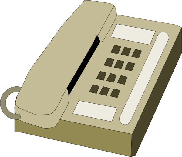 Phone clipart corded phone. Telephone free images at