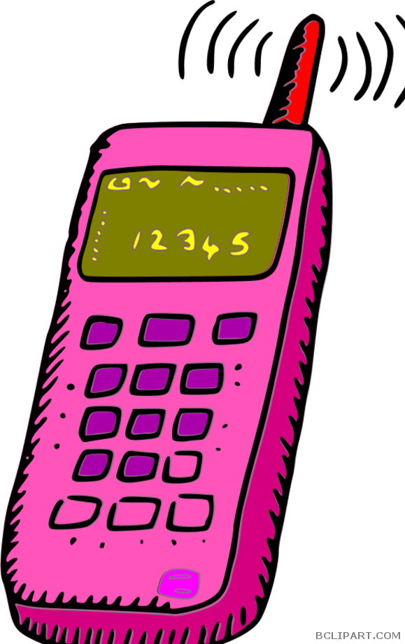 Clipart phone pink. Cell bclipart tools free