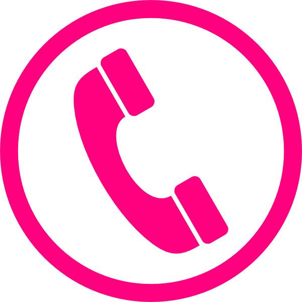 Icon clip art at. Clipart phone pink