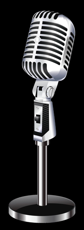 Retro clipart headphone. Vintage microphone transparent png