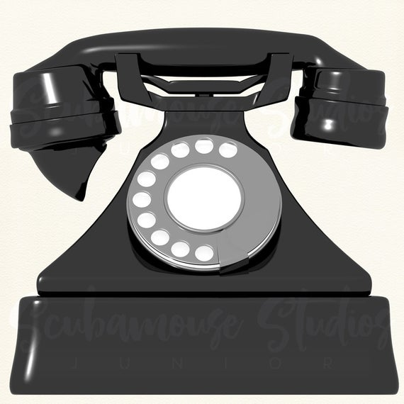 Clipart phone retro. Single rotary vintage telephone