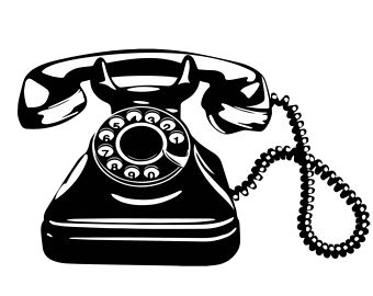 Phone clipart telepone. Old telephone lady retro