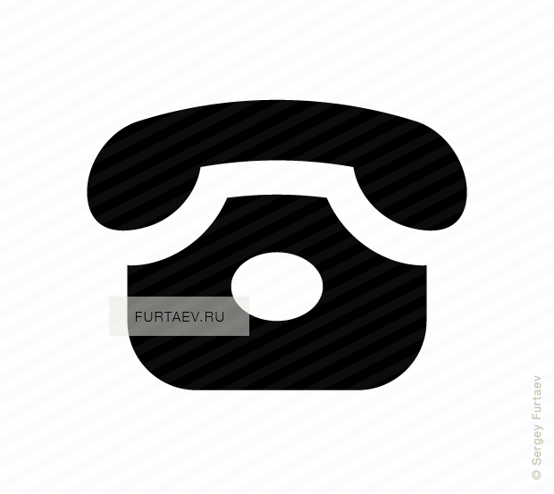 Clipart phone rotary phone. Vector icon of classic