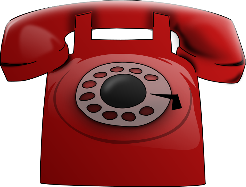 Red medium image png. Phone clipart corded phone