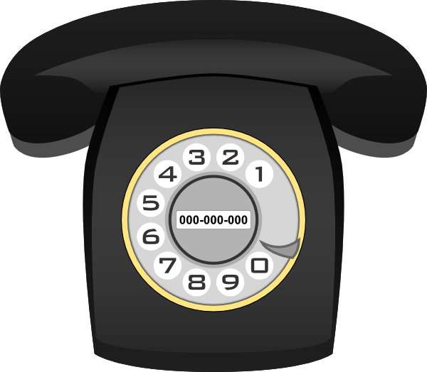 Telephone clip art at. Phone clipart rotary phone
