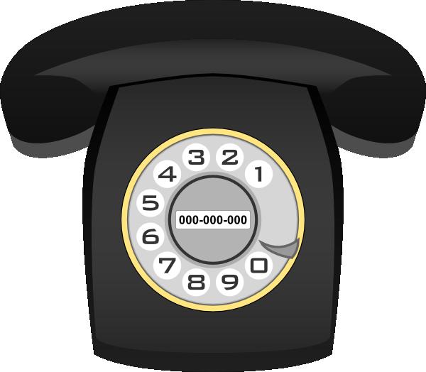 Telephone clip art at. Clipart phone rotary phone